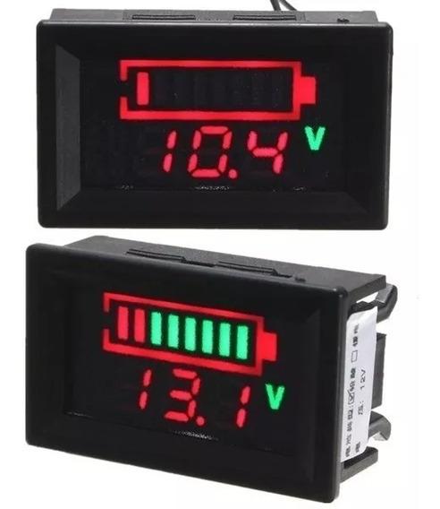 Voltímetro Medidor Bateria 12v Porcentagem Som Carro Moto Dc