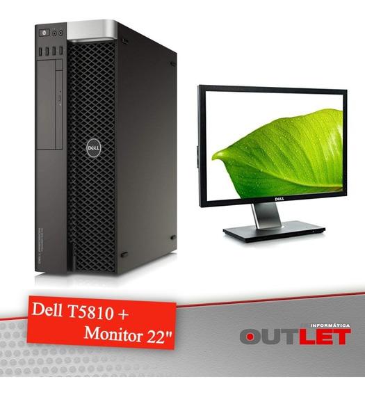 Workstation Dell Precision T5810 Xeon + Monitor Dell 22