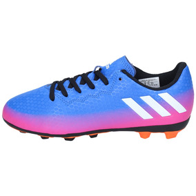 Zapatos Fútbol adidas Niños Messi 16-4 Fxg Azul Naranjo-2974