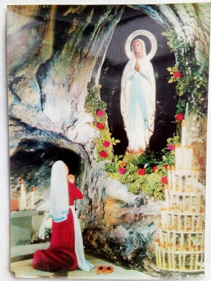 Postal 3d - Tridimensional - Japonesa - Con Virgen - Nº 208