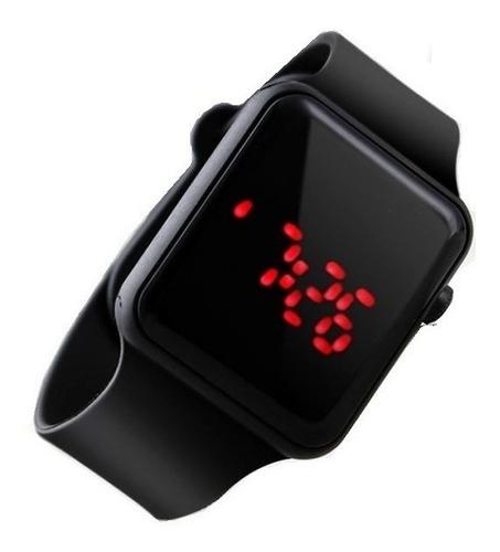 Relógio Digital Led Masculino Feminino Inteiro Preto