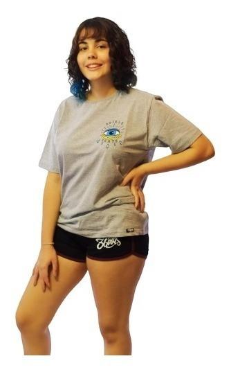 Camiseta 3-girls Eye Blue Tamanho Único M Masculino