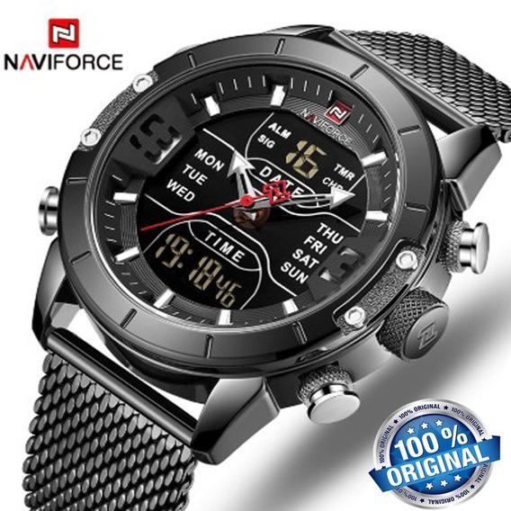 Relógio Naviforce Masculino 9153 Preto Esporte Original