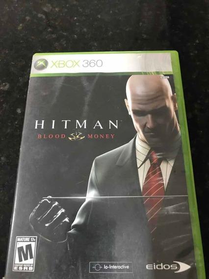 Jogo Xbox 360 Hitman Blood Money Original Mídia Física