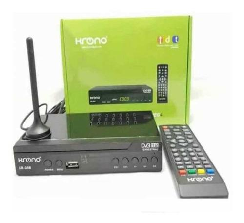 Imagen 1 de 5 de Decodificador Krono Tdt Receptor Tv Digital Dvb Hdmi Antena