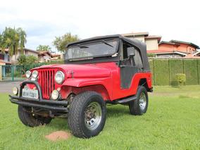 Jeep Willys 4x4 Reduzida D. Hidráulica Motor Opala 4cc