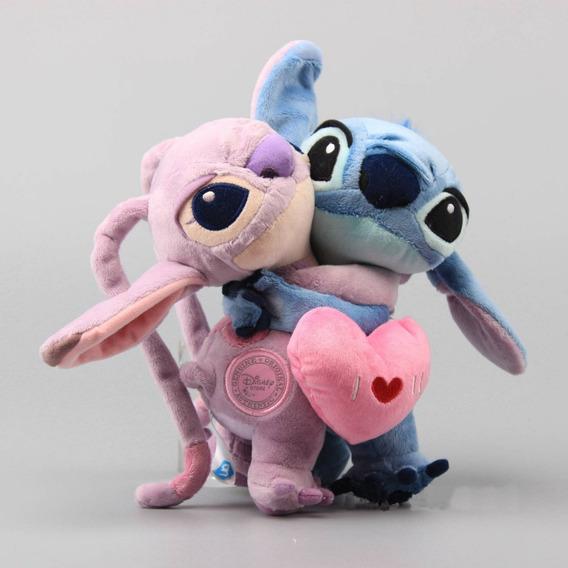 Stitch Pélucia Disney Angel Dia Dos Namorados Coração! S2