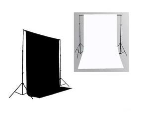 2 Tecidos 3x2m Branco/preto + Suporte P/fundo Infinito