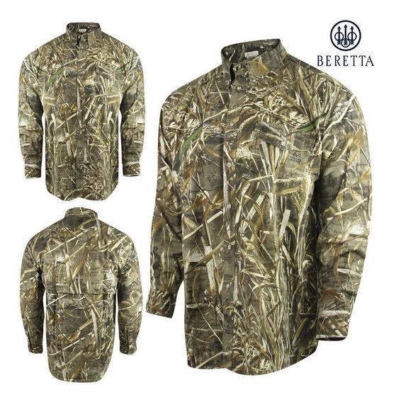 Camisa Beretta Realtree Max5 Camo Camuflage Caceria Caza