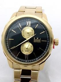 Relógio Dumont Dourado Fundo Preto Du6p23ab/4d