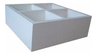 Caja Cuadrada 4 Divisiones 20.5x20.5x7.3 Los Alamos Muebles