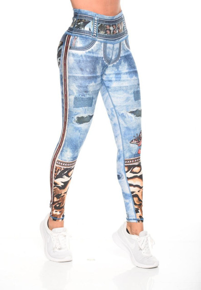 Brandfit Jeans Legging Lycra Leggins Colombianos Fitness