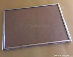 Kit 4 Molduras De Alumínio A4 21x30cm Para Diplomas