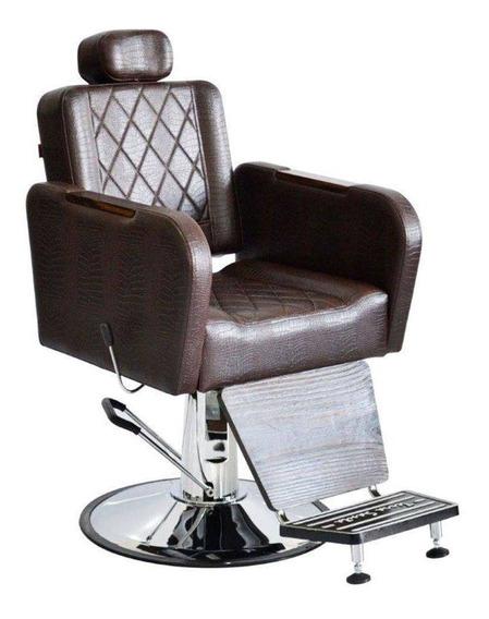 Cadeira Poltrona Para Barbeiro Reclinável Caravaggio Terra Santa