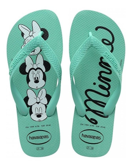 Chinelo Havaianas Personalizado Mickey Minnie Original Top