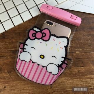 Capa Para Celular Resistente A Água Hello Kitty, Emoji