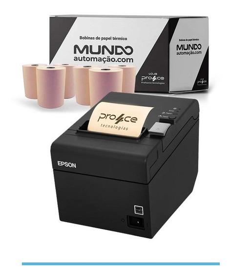 Impressora Epson Tm-t20 + Caixa Bobina Térmica 80x40 Combo