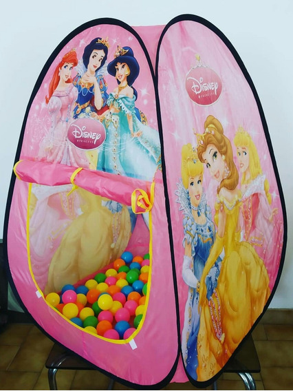 Carpa Piscina De Pelotas Frozen Princesas + 99 Pelotas