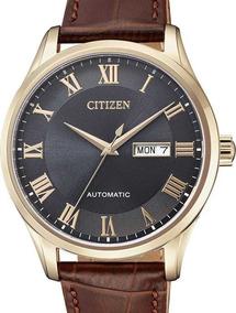 Relógio Citizen Masculino Automatico Couro - Tz20797p