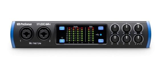 Interface De Áudio Presonus Studio 68c Usb-c Com Garantia