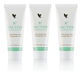 Creme R3 Factor Skin Defence 3un - Forever - Super Oferta