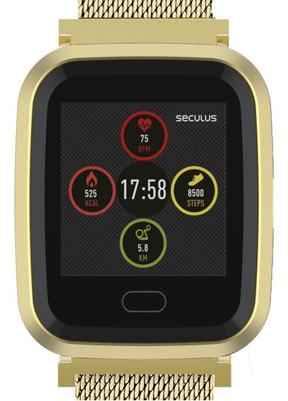 Relógio Seculus Smartwatch Dourado 79006mpsvde1 Feminino +nf