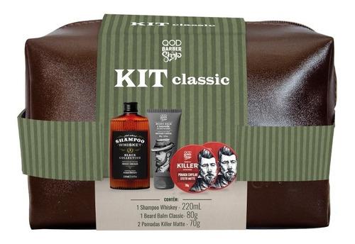 Imagem 1 de 1 de Kit Classic Hair&beard | Necessaire + Produtos Cabelo&barba