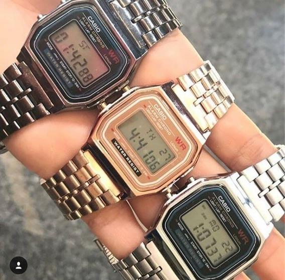 Relógio Casio Vintage Wr Retrô Unissex Lindo Várias Cores - Acompanha Caixa Aveludada Linda - Ideal Para Presente