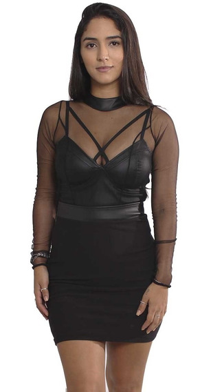 Vestido Com Cropped Avulso