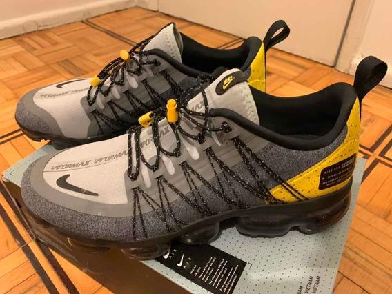 Tênis Nike Vapormax Run Utility Cinza/amarelo