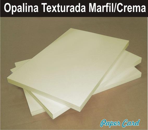 Cartulina Opalina Texturada Crema Marfil Oficio De 250 Grs