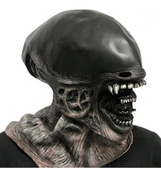 Mascara Extraterrestre Alien Disfraz Halloween Upd Egresados
