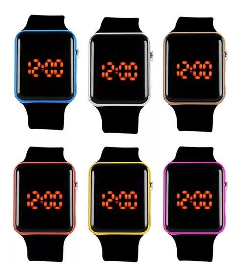 Relógio De Pulso Feminino Digital Led Quadrado