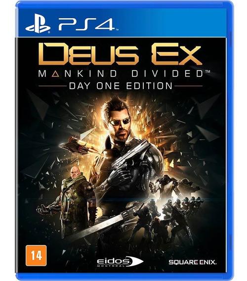Deus Ex: Mankind Divided - Edição Day One - Playstation 4
