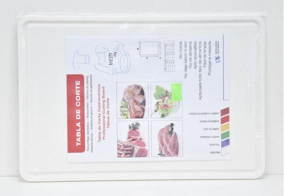 Tabla De Corte Gastronomica 20x30 Multiuso Blanca