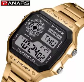 Relógio Banhado A Ouro Esportivo Da Marca Panars