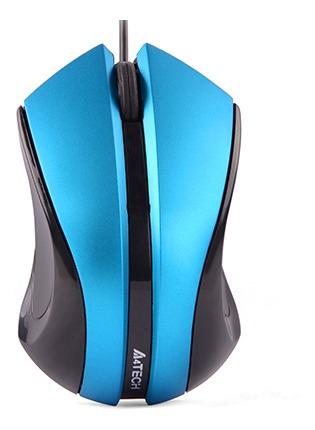 Mouse Mini V-track Usb N-310-3 Preto E Azul A4tech