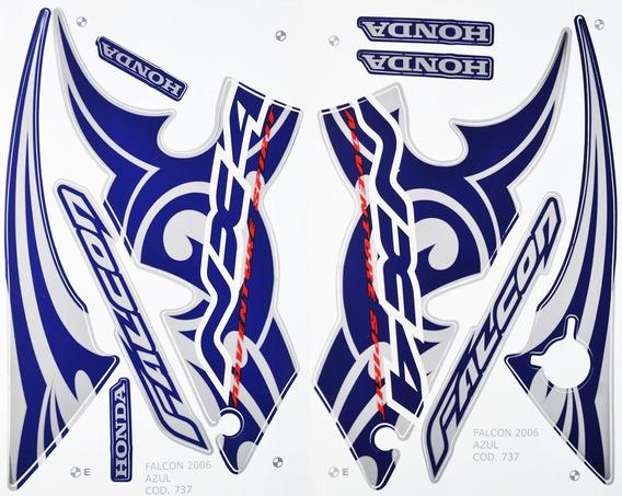 Faixas / Kit Adesivos Honda Nx400 Falcon 2006 Azul