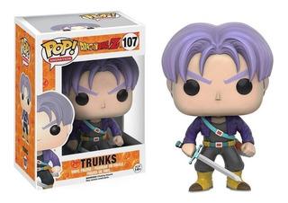 Funko Pop Trunks 107 Dragon Ball Z Figura Original Educando
