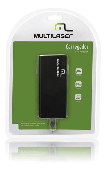 Carregador Multilaser Universal Para Notebook 19v 65w Cb010