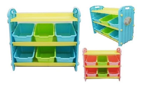 Estante Baú Organizador Infantil Brinquedos Completo