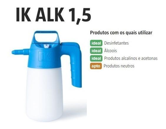 Ik Alk 1.5l Pulverizador Resistente A Alcalino E Alcoois