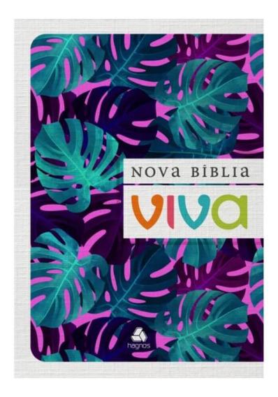 Nova Bíblia Viva / Folhagem Roxa / Letra Grande / Brochura