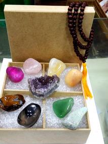 Kit Meditação 11 Ítens: Drusa Ametista Pedras Japamala Caixa