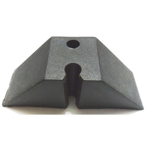 Calço Para Telha Trapézio T 25 2 Furos Kit 10 Peça(s) Preto