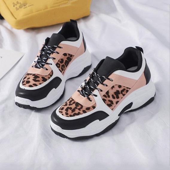 Tênis Feminino Chunky Sneakers Animal Print - Frete Grátis