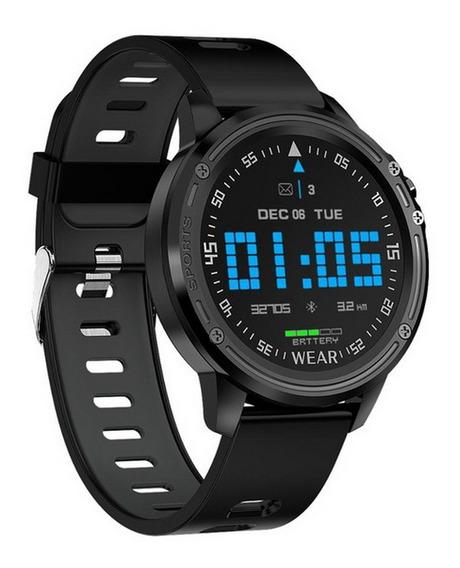 Relógio Inteligente L8 Ecg Ppg Esportesaúde Rastreador Preto
