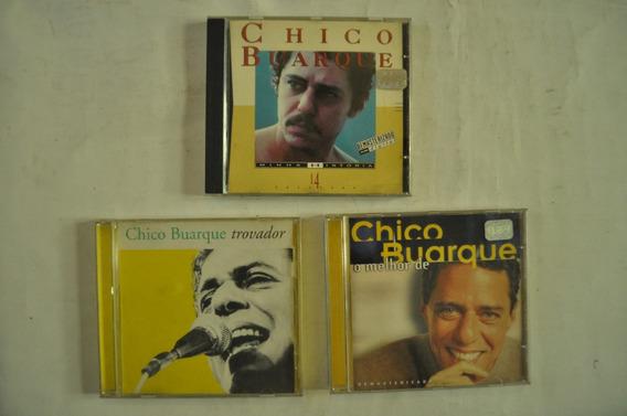 Lote X3 Chico Buarque Cd Música Brasil