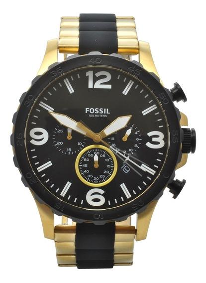 Relógio Fossil Masculino Jr1526/4pn - Dourado E Preto