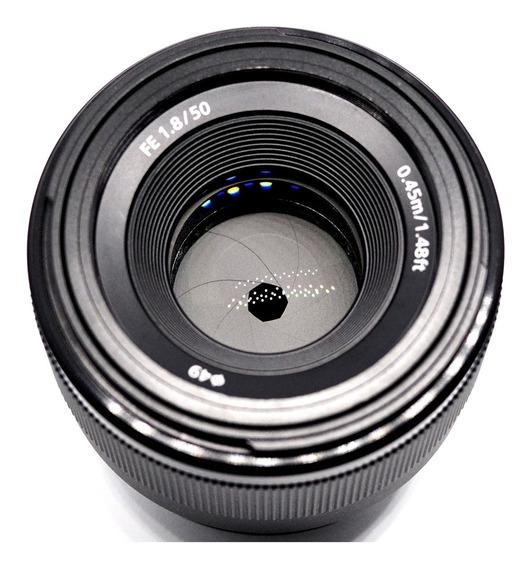 Lente Sony Fe 50mm F1.8 Full Frame A7iii A7 A9 Impecável
